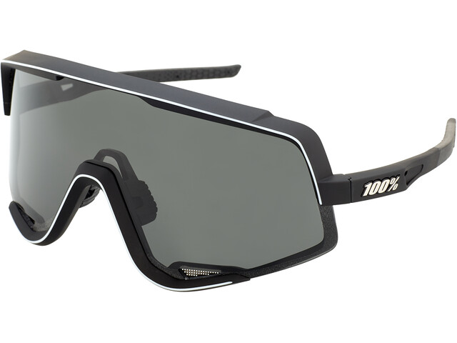 100% Glendale Colored Lens Sunglasses soft tact black